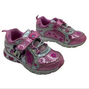 Disney Minnie Mouse Sneakers Light-up Size 8T